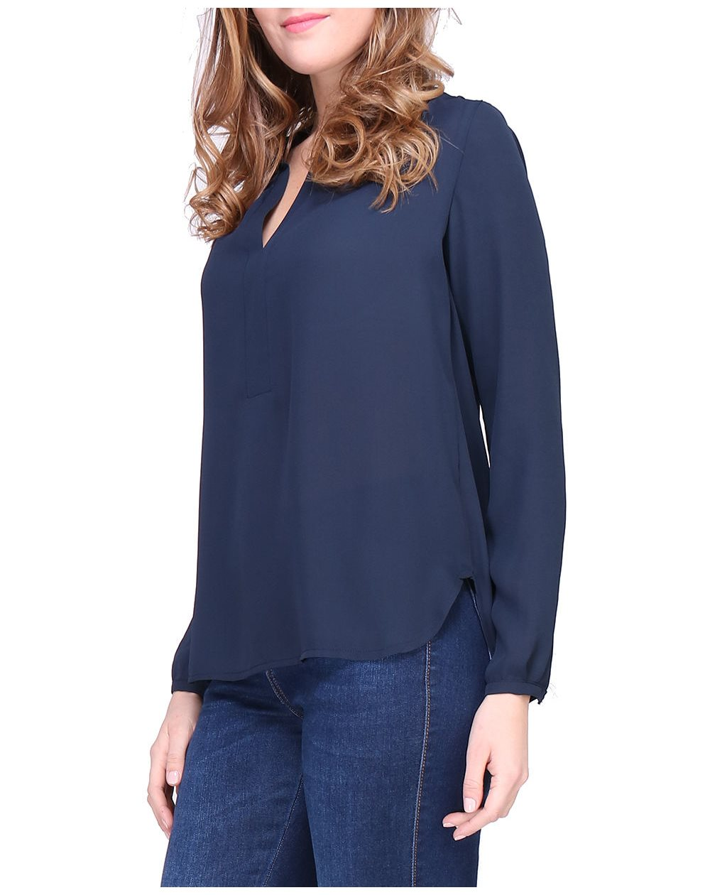 Revdelle - Blouse col V Made in France manches 3/4 Femme Ombrette