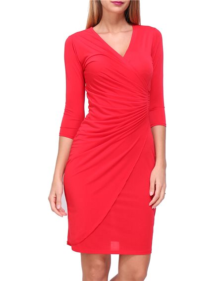 Revdelle - Robe cache coeur col en V Made in France manches 3/4  Femme MYRIAM