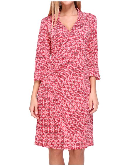 Revdelle - Robe cache coeur col V Made in France manches 3/4 Femme Daisy