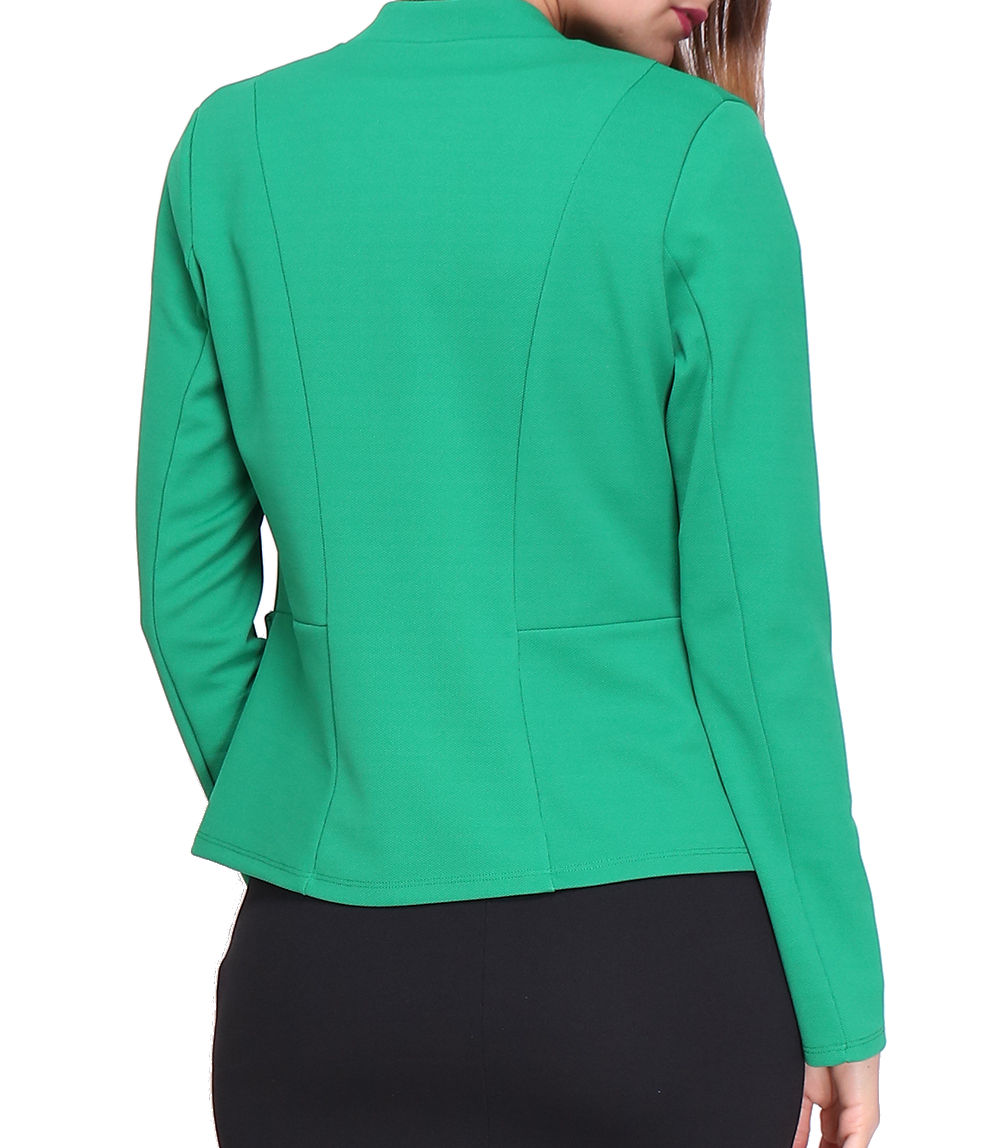 Tailleur In France Manches Veste Courte Revdelle Longues Made n0OwkP