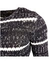 Subliminal Mode - Pull homme col rond rayer - Tricot grosse maille - Col a ras du coup