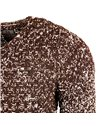 Subliminal Mode - Pull homme col rond - Tricot grosse maille chiné - Col a ras du coup