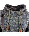 Subliminal Mode - Pull homme à capuche avec cordon de serrage - Tricot grosse maille