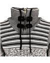 Subliminal Mode - Pull homme col montant avec zip avec lacet de serrage col rouler