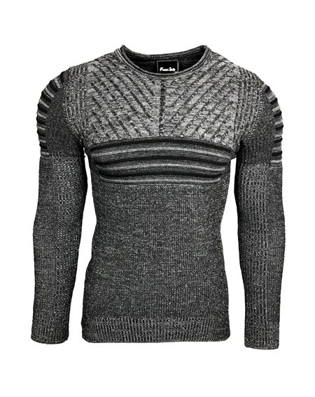 Subliminal Mode - Pull homme col arrondi cintre