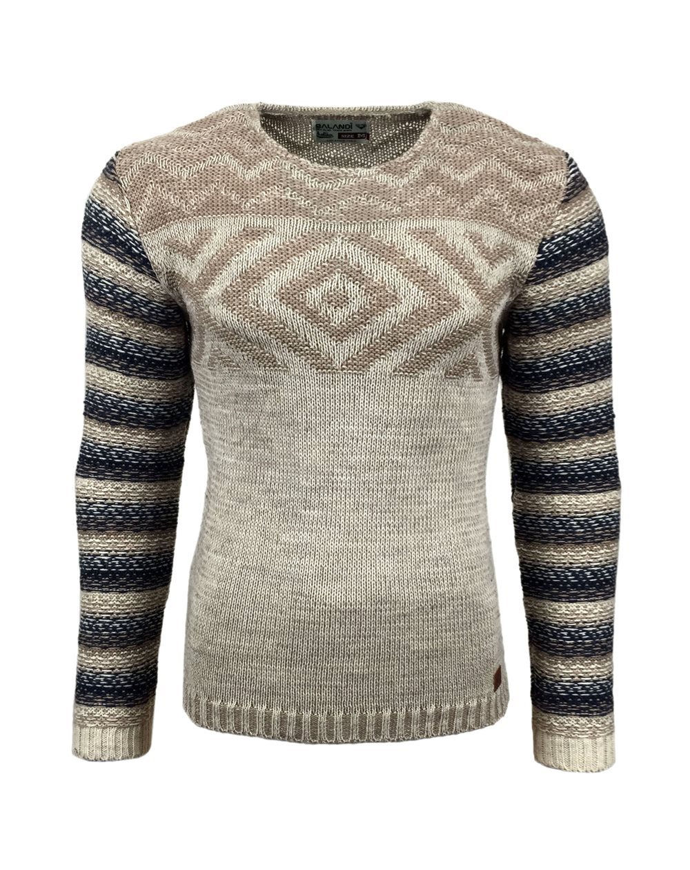 Subliminal Mode - Pull homme col arrondi grosse maille 15013