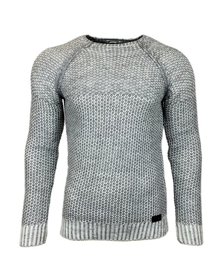 Subliminal Mode - Pull homme col arrondi grosse maille KD16060