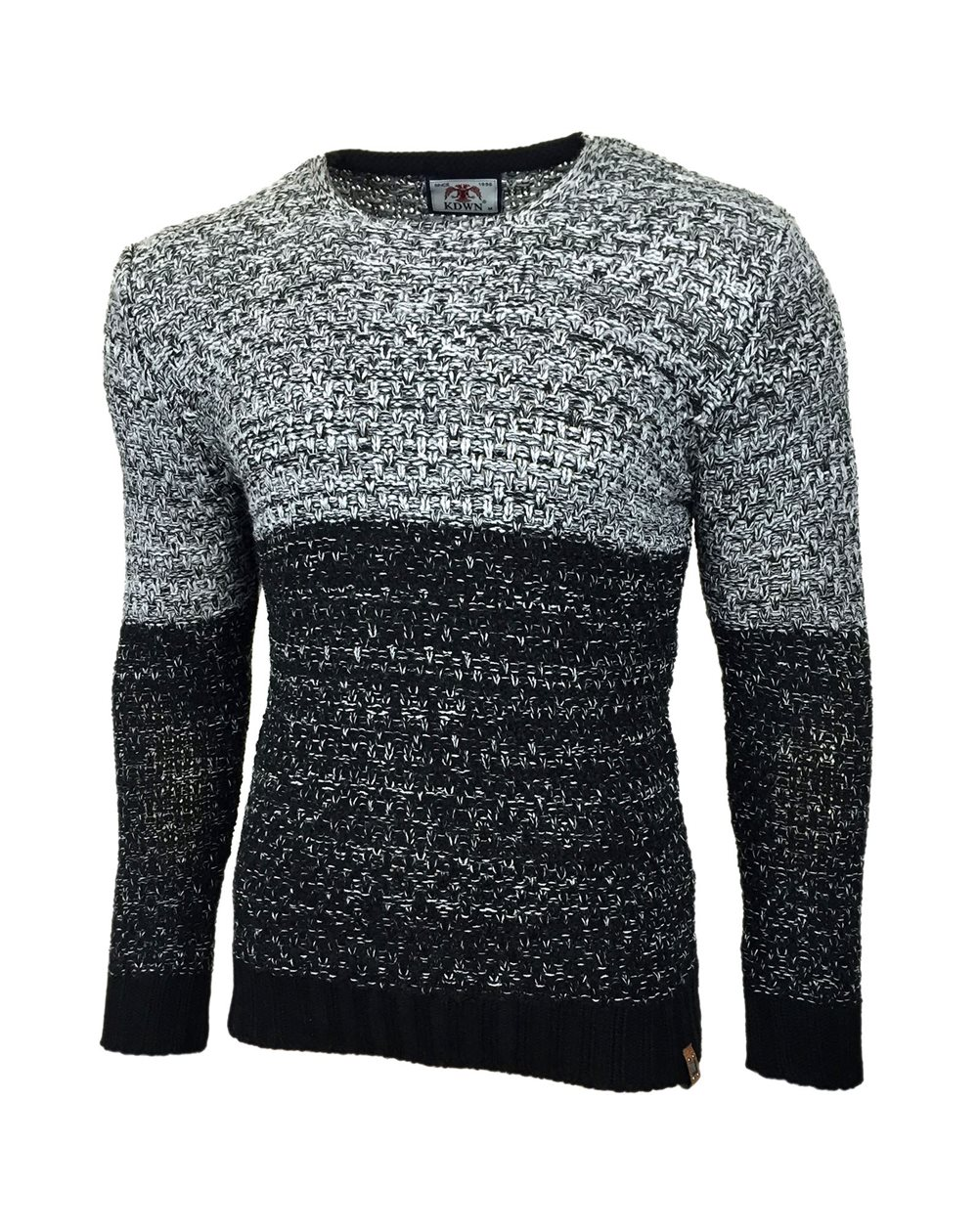 Subliminal Mode - Pull homme col arrondi grosse maille chine KD16065
