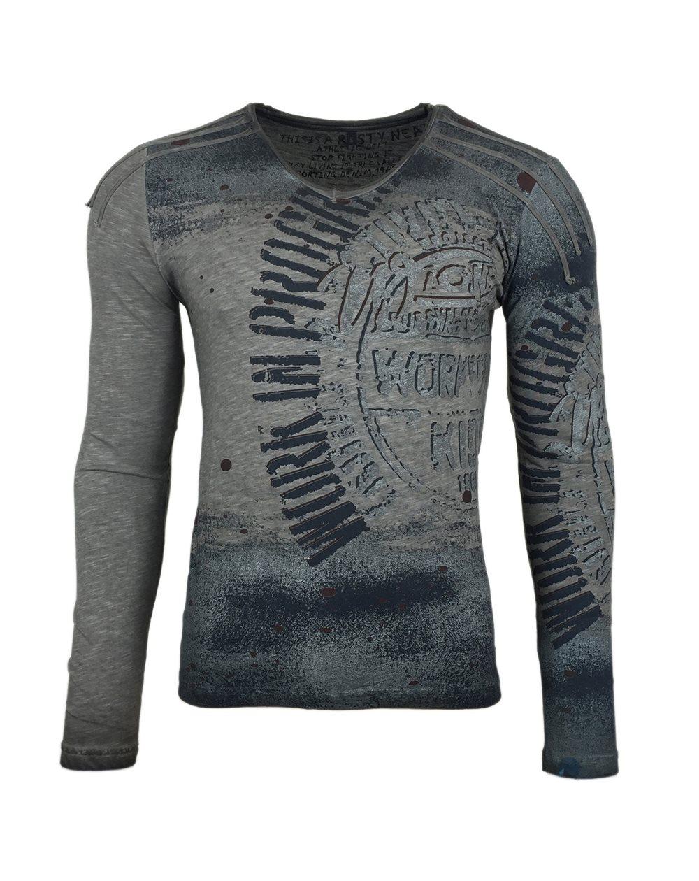 nouveau design rechercher les plus récents choisir véritable Subliminal Mode - Tee Shirt Delaver Homme Manches Longues Col V SB10109
