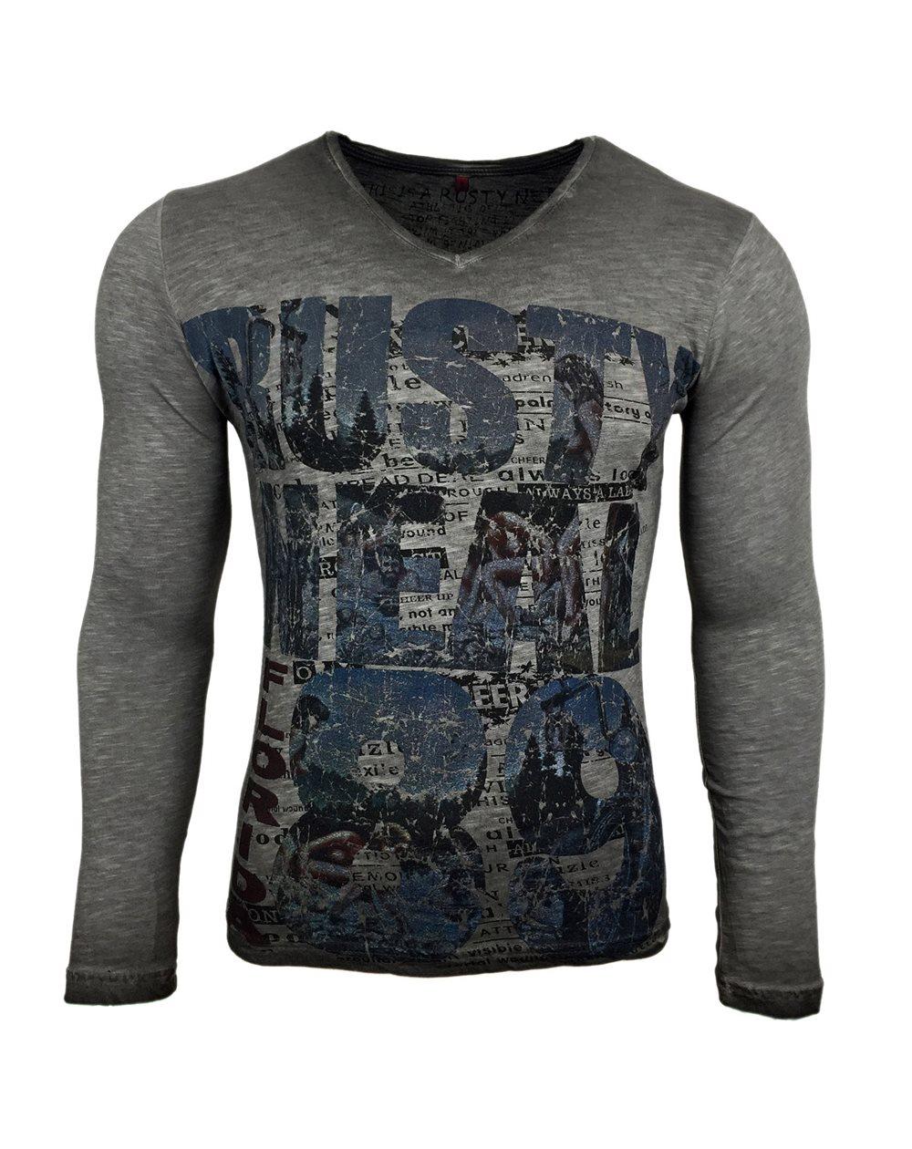 Subliminal Mode - Tee shirt delaver homme manches longues col V SB10113