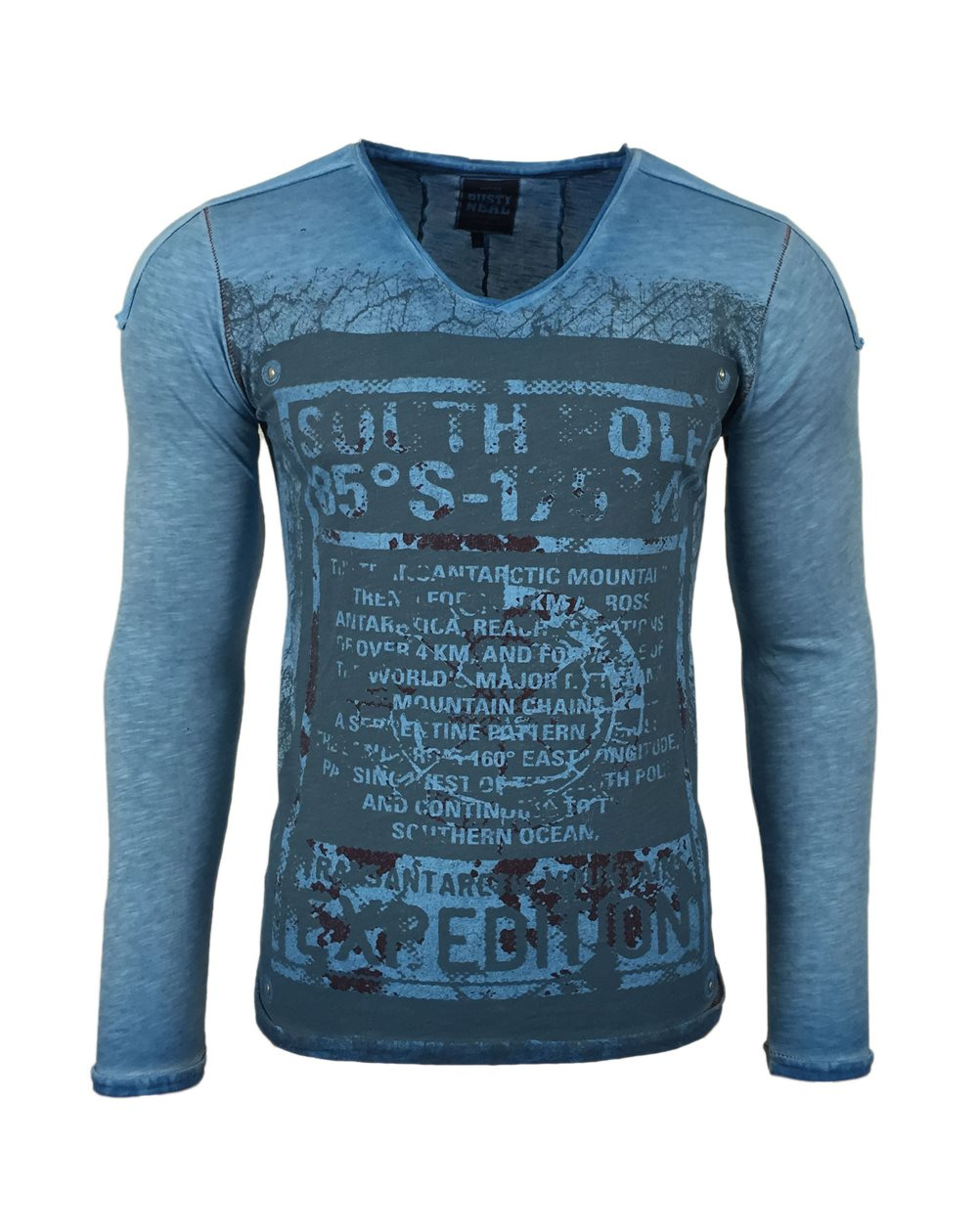 Subliminal Mode - Tee shirt delaver homme manches longues col V SB10107