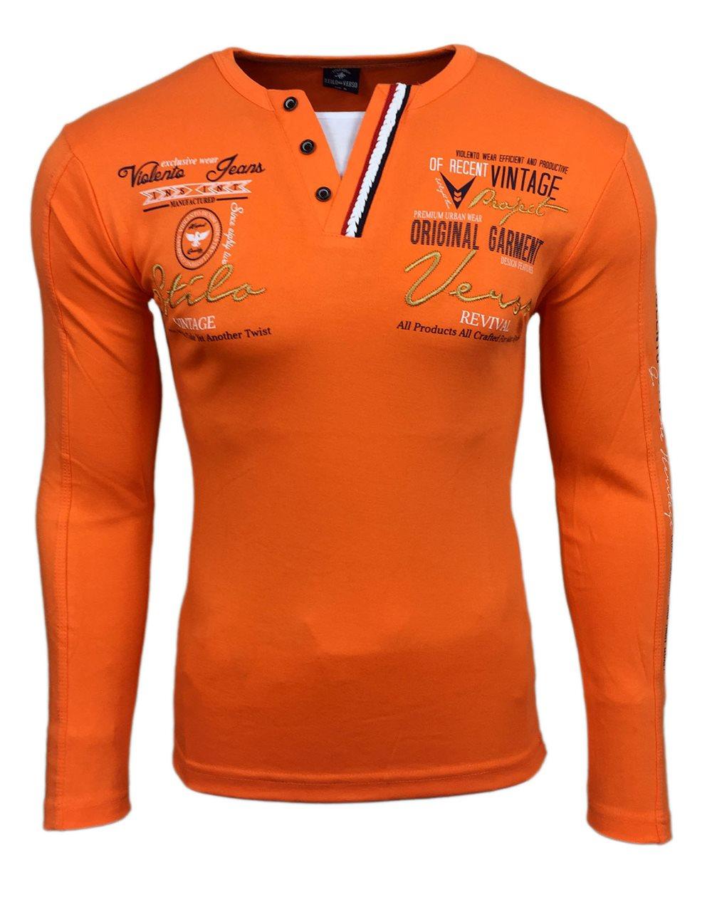 Subliminal Mode - Tee shirt homme manches longues col à cacpuchepull leger SBV0712