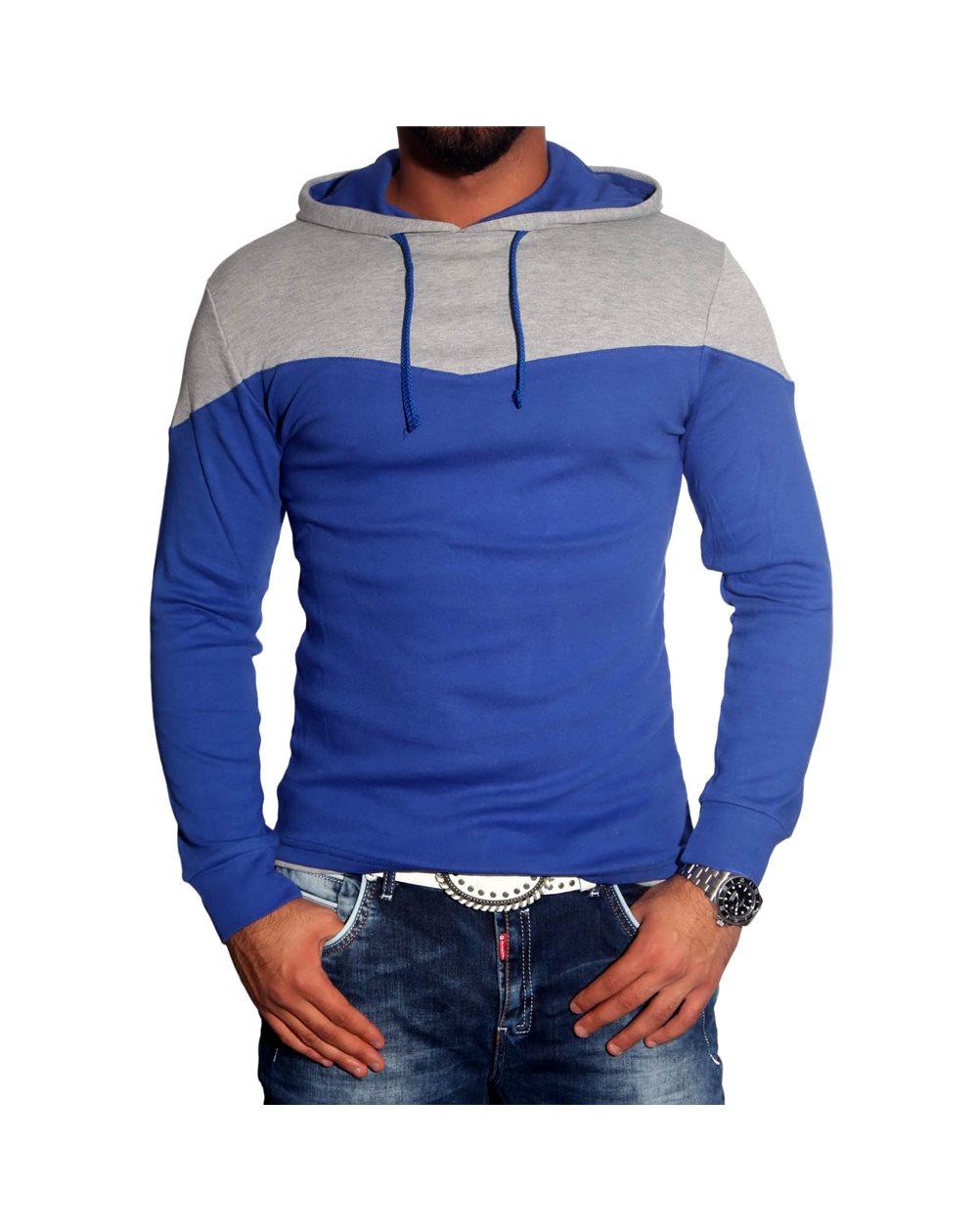 Subliminal Mode - Tee shirt homme manches longues col à cacpuche pull leger SBV0712