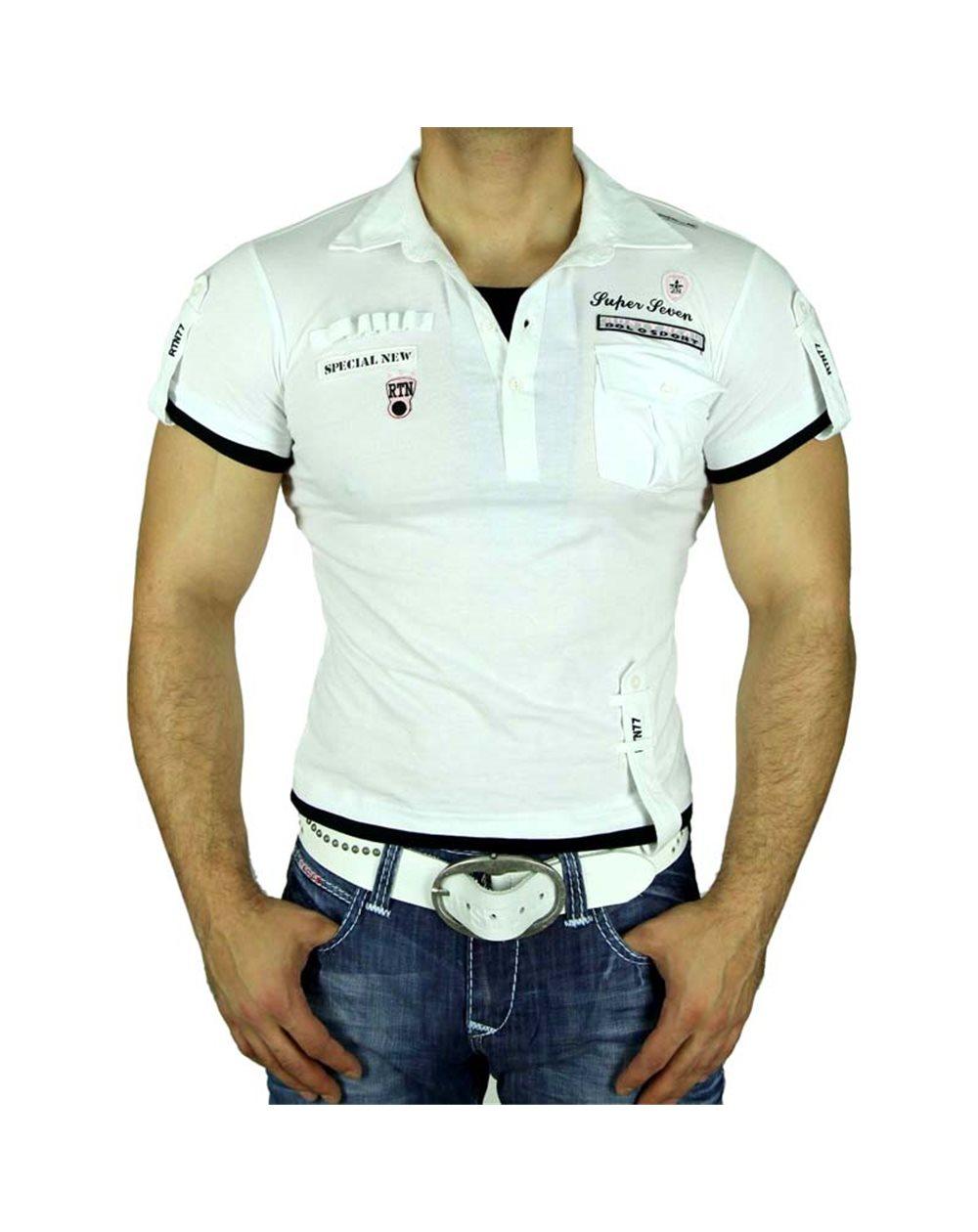 Subliminal Mode - Polo homme bicolore manches courtes decontracter SB301