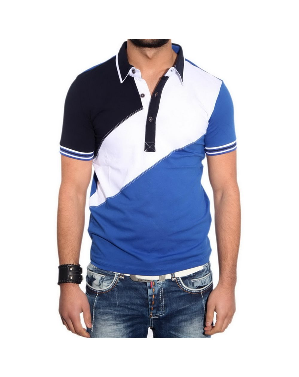 Subliminal Mode - Polo homme multicolore decontracter KD2504