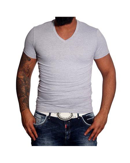 Subliminal Mode -Tee shirt homme col V uni