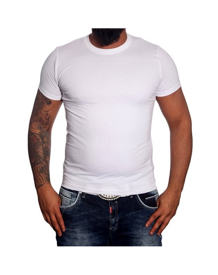Subliminal Mode -Tee shirt homme col arrondi uni basic