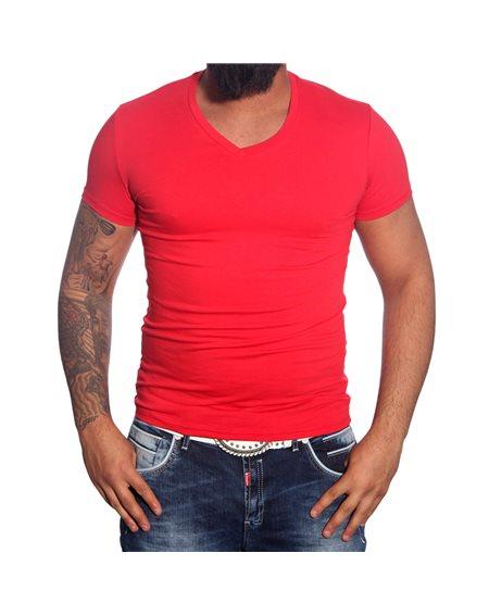 Subliminal Mode - Tee shirt homme uni col V basic SB10069
