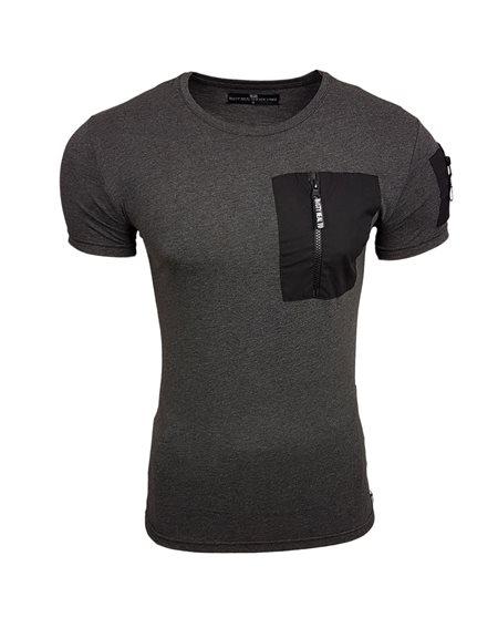 Subliminal Mode - Tee shirt homme col arrondi avec poche ziper basic SB15118