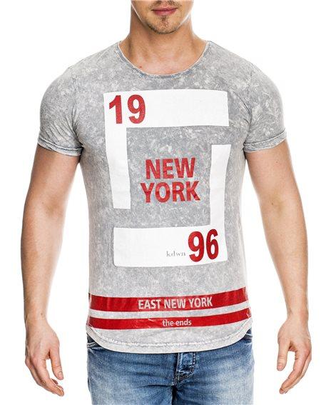 Subliminal Mode - Tee shirt homme asymetrique col rond KD6077