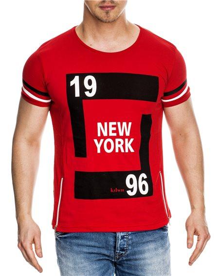 Subliminal Mode - Tee shirt homme asymetrique col rond KD4051