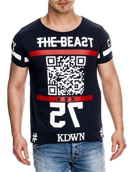 Subliminal Mode - Tee shirt homme asymetrique col rond KD4082