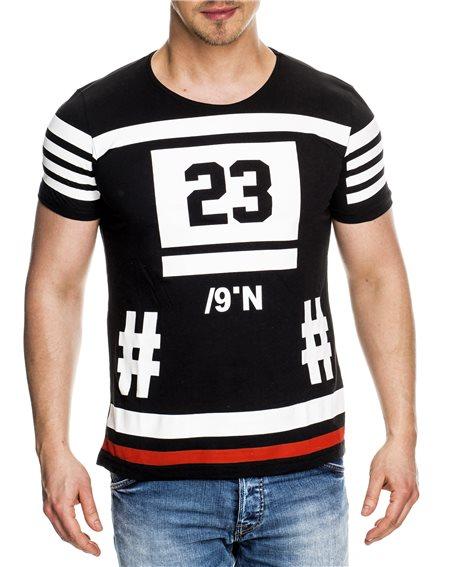 Subliminal Mode - Tee shirt homme asymetrique col rond KD4017