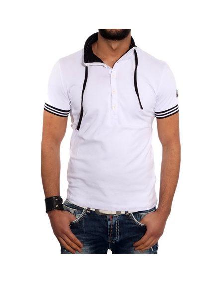 Subliminal Mode - Tee shirt homme uni col chale KD2500