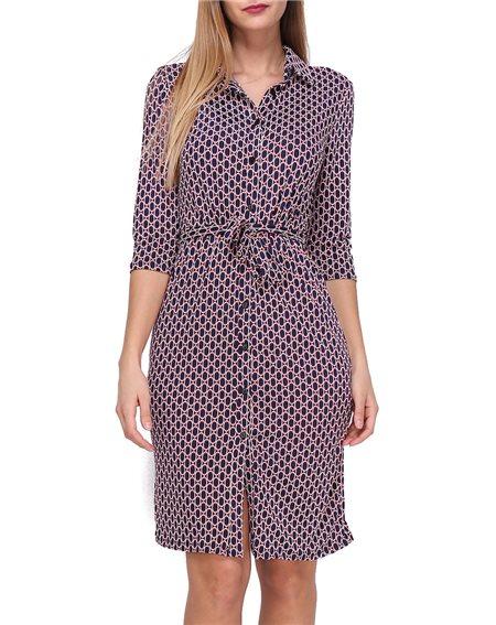Revdelle - Robe boutonner col chemise Made in France Manches 3/4 Femme PALOMA