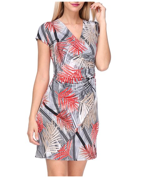 Revdelle - Robe Cache Coeur Col V Made In France Manches Courtes Femme Camille