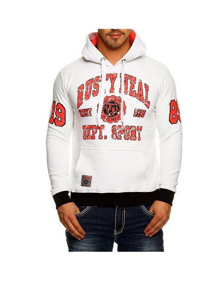 Subliminal Mode - Sweat shirt homme capuche avec col cordon de serrage RN6873