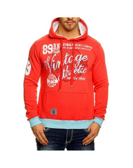 Subliminal Mode - Sweat shirt homme capuche avec col cordon de serrage RN6870