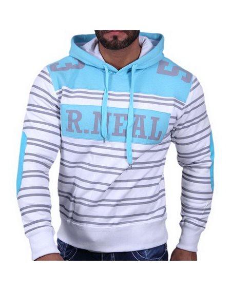 Subliminal Mode - Sweat shirt homme capuche avec col cordon de serrage RN33