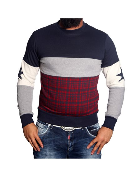 Subliminal Mode - Sweat shirt homme col arrondi SB111