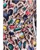 Revdelle - Robe Cache Coeur Col V Made In France Manches 3/4 Pour Femme Imprimer Serpent Myriam