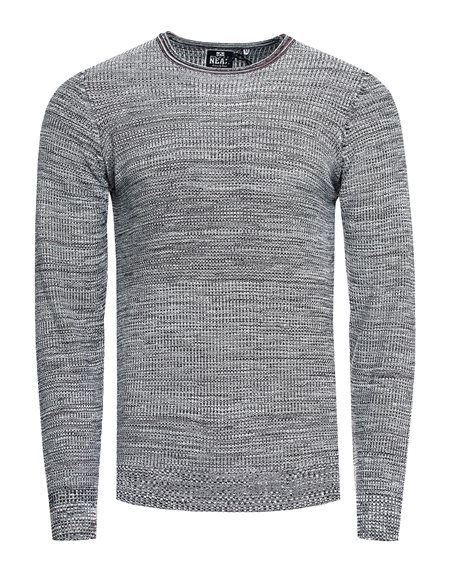 Rusty Neal - Pullover Homme Chiner Col Arrondi Pull Hiver Tricot Maille Chaud Basique Chandaille 13372